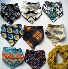 hipster baby child bandanna drool bib scarf by BebeFeathersApparel, $13.00