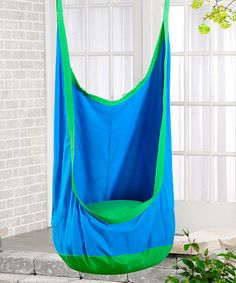 Look what I found on #zulily! Azure & Lime Green Cocoon Hammock Chair #zulilyfinds