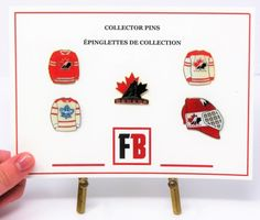 Collector pin set 5 Team Canada pins, exclusive sets from Fanbundles, Collector pins at GREAT VALUE! Canada's sports gift box service, combos available in CAD or build your OWN BOX! Sports Gifts, Fan Gear, Nhl, Hockey, Fans, Canada, Content, Field Hockey, Ice Hockey
