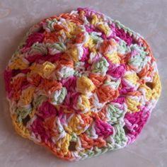 Popcorn Scrubbie Dish Cloth and Scrubbie | Free Crochet Pattern