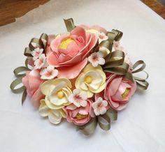 Sugar craft flowers cake topper