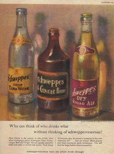vintage soft drink | Vintage 1949 Schweppes Soft Drinks Advert - Vintage Advertising ...