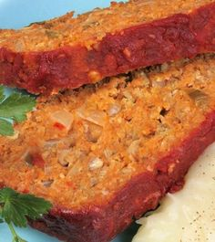 Lentil Loaf                                                 ( This is a MUST TRY ! Monica )
