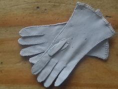 Pair of kid leather gloves.