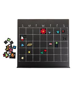 Loving this Chalkboard Magnetic Perpetual Calendar Set on #zulily! #zulilyfinds