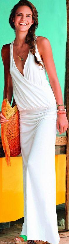 Chairama Dress in White