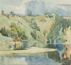 Franklin Carmichael - Hills and Water, 1925