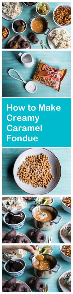 Caramel fondue is the perfect easy dessert that everyone loves—and it just screams fall! Think caramel dipped apples, brownies, pretzels… pretty much any sweet thing you can imagine.