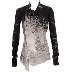 Rick Owens Crepe printed jacket