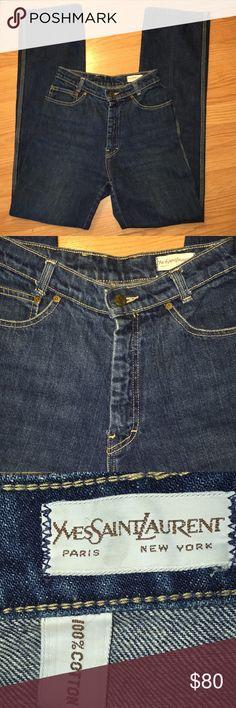 a62b6ae4207 Vintage Yves Saint Laurent High Waist Jeans Vintage Yves Saint Laurent High  Waist Straight Leg Jeans