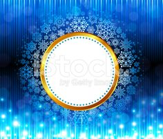 Festive holiday frame with snowflakes royalty-free stock vector art