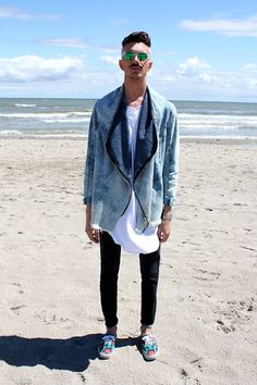 Asos Sunglasses, Frav Jacket, Sartorial T Shirt, Cheap Monday Pants, Kenzo Shoes