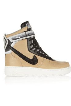 Nike + Riccardo Tisci Air Force 1 leather sneakers | NET-A-PORTER