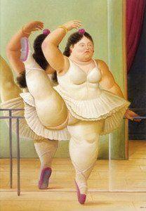 Dancer at the Pole - Fernando Botero