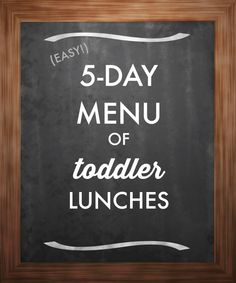 Does your morning routine include packing your child's lunch for daycare? Here's a week's worth of east toddler lunches that require minimal prep time.