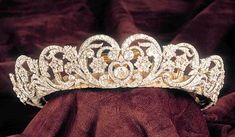 Spencer tiara; worn by Princess Diana at her wedding in 1981. She said it wasn't as heavy as the Lover's Knot tiara and wore this one more often.