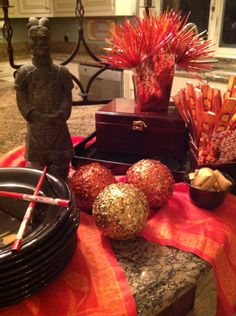 Chinese New Year take out tablescape