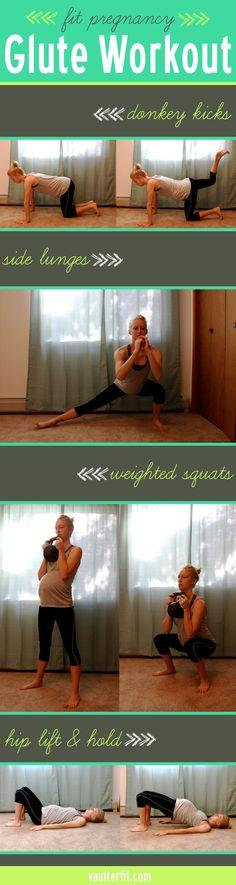 Vaulter Fit | fit pregnancy glute workout