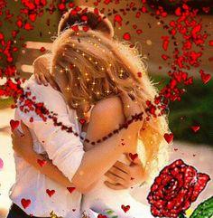 Animated Gif by Eva Fodorne Good Night I Love You, Love You Gif, Love You Images, Dont Love Me, Love Kiss, Cute Love, Beautiful Romantic Pictures, Romantic Gif, Beautiful Gif