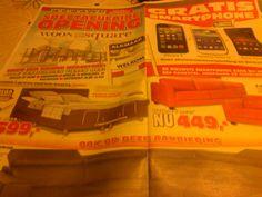het sterke aan deze brochure is dat op de eerste pagina staat, dat je een gratis smartphone kan krijgen