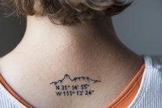 latitude longitude tattoos compass - Google Search
