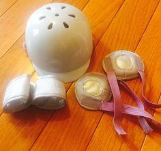 American Girl Doll Helmet Knee Wrist Pads Safety Set Retired  | eBay
