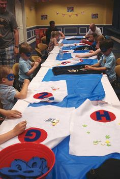 East Coast Mommy: DIY Super Hero Party I'd love to do this for axels bday!! He said he wants a super hero party