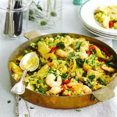 Giant couscous paella - Good Housekeeping