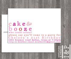 SANNA   21ST Birthday invite by invitationsandprints, $15.99