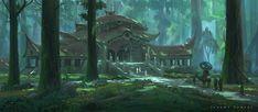 Forest Temple, Jeremy Fenske on ArtStation at https://www.artstation.com/artwork/WLNwE