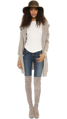 Free People Newbie Thermal Rosey Cuff Top