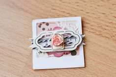 POLAROID EMBELLISHMENT - by Journal Of Curious Things, via Flickr  (Layering)
