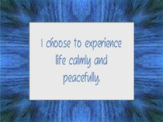 CALM & RELAXED affirmation