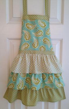 Apron Little Girl's apron funky vintage