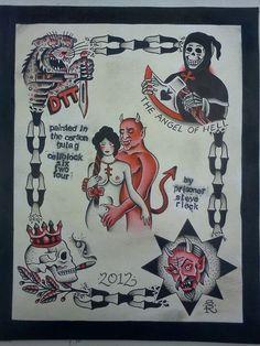 Russian Criminal Tattoo Flash by Steve Rieck Las Vegas