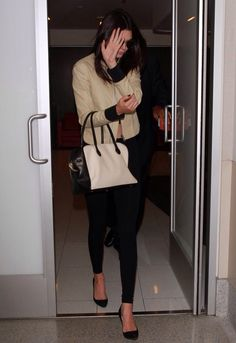 Kendall at LAX airport today.