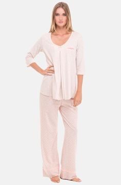 ded4030e3db Free shipping and returns on Olian 3-Piece Maternity Sleepwear Set at  Nordstrom.com