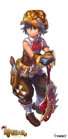 Character concept art by Cushart for Fantasy Saga Online.