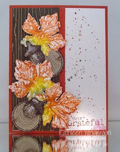 stampin up gently falling - Google Search
