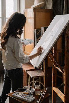 10 Fashion Trends for Summer 2019 - arte Color Photos Parisian Style - Click the pic for more inspo from Paris Portrait Studio, Style Parisienne, Artist Aesthetic, Aesthetic Drawings, Art Hoe, Parisian Style, Your Paintings, Girl Paintings, Art Studios