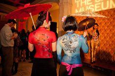 """Japanese Culture Day"" at Balboa, model in blue - bodyart by Lana Chromium Please check my online bodyart portfolio: http://www.behance.net/gallery/Bodyart-Portfolio-by-Lana-Chromium/9906447"