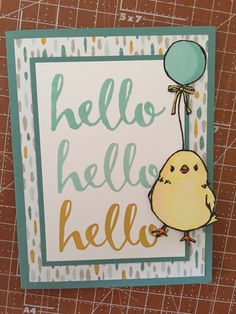Stampin Up Sale-A-Bration Honeycomb Happiness and Hello for March Club