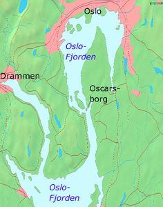Map of Oslofjord with Oscarsborg. This Day in History:  Apr 9, 1940: Germany invades Norway and Denmark in Operation Weserübung http://dingeengoete.blogspot.com/
