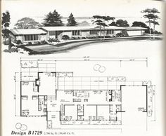 Pull this up lots of choices Vintage House Plans, Vintage Homes, Mid Century Homes
