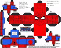 SuperMan toilet paper roll craft | free spiderman paper toy template