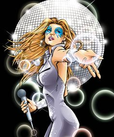 Dazzler: Marvel character who has the ability to turn noise into a light show Super Hero shirts, Gadgets Comic Book Superheroes, Comic Book Characters, Marvel Characters, Comic Character, Comic Books, Marvel Comics, Marvel Comic Universe, Jean Grey, Dazzler Marvel