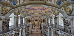 Admont Abbey Library, Austria: The seven frescoes adorning the ceiling here were completed over the course of one summer by baroque painter Bartolomeo Altomonte, who was 80 years old at the time. So much for retirement. It is considered one the Worlds 9 most beautiful libraries.