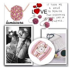 lamiacara by ajsajunuzovic on Polyvore featuring Mode and with La Mia Cara Jewelry & Accessories #lamiacara #jewelry #accessories