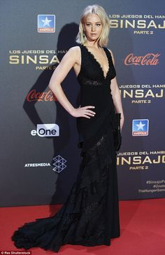 What a dress!Jennifer   wowed in arguably her best look yet at the Madrid premiere of The Hunger Games: Mockingjay Part 2