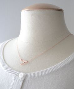 Wishbone Necklace - Rose Gold - Trend Uncovet